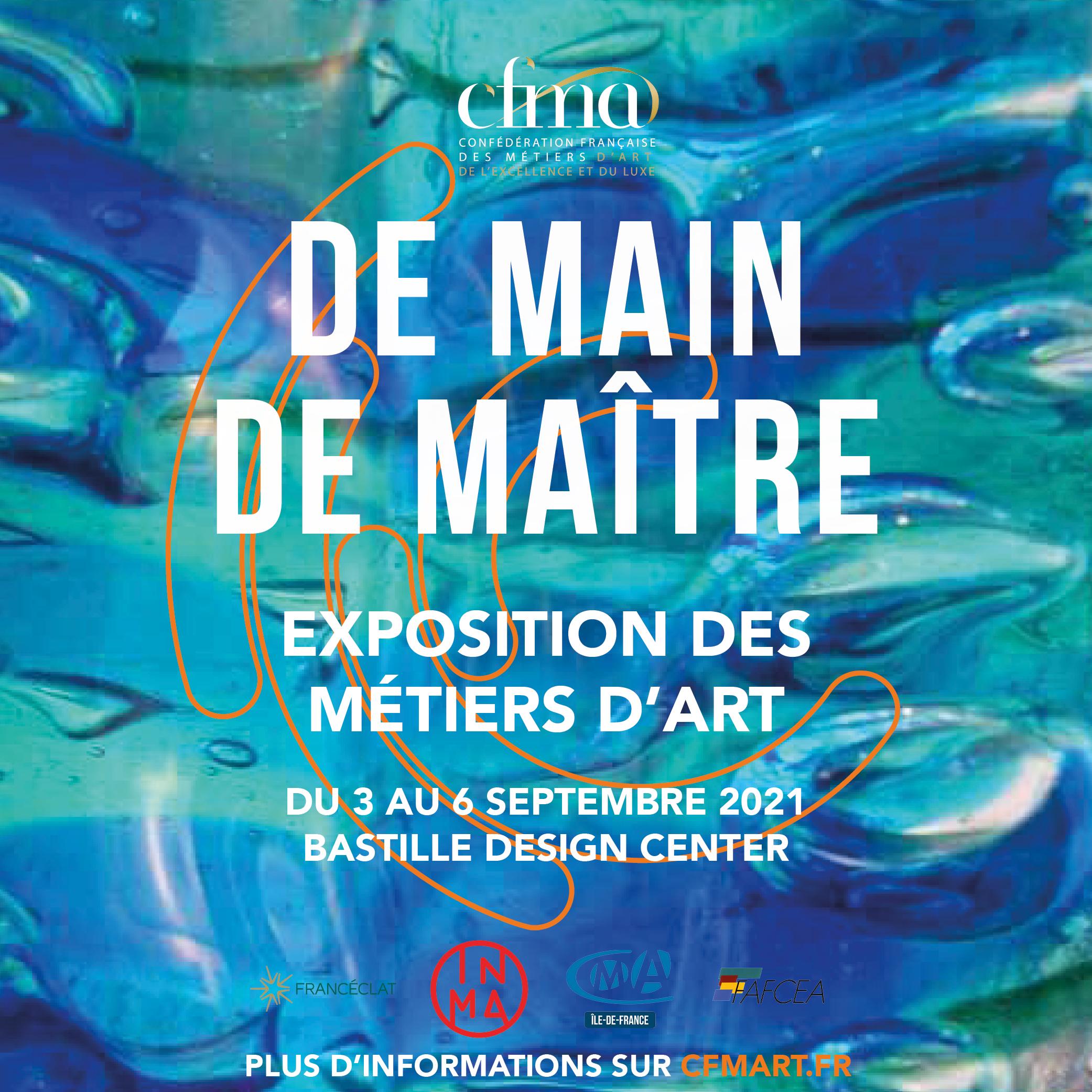 Quintessenz B à Paris au salon des métiers d'art DE Main de Maître du 3 au 6 septembre 2021